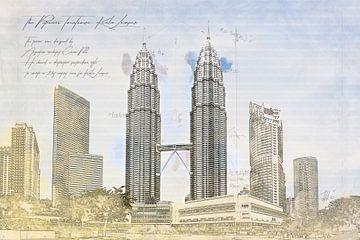 Petronas Torens, Kuala Lumpur van Theodor Decker