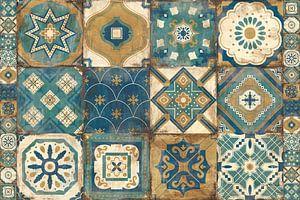 Tuiles marocaines bleues, Cleonique Hilsaca