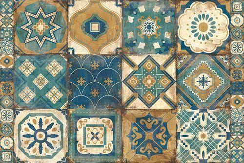 Marokkaanse tegels blauw, Cleonique Hilsaca