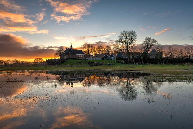 Middelbuurt Schokland met Enserkerk van Fotografie Ronald