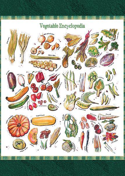 Vegetable Encyclopedia - all types of vegetables, sur Ariadna de Raadt-Goldberg