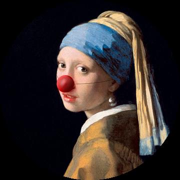 Meisje met de Parel met clowns neus van Maarten Knops
