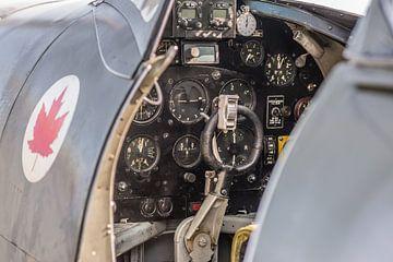 Cockpit van een Spitfire van Floris Oosterveld