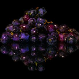 Blauwe Druiven van Lisa Antoinette Photography