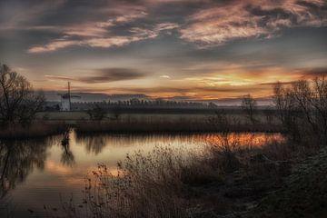 Die Marsch (Mühle) bei Lützen von Moetwil en van Dijk - Fotografie