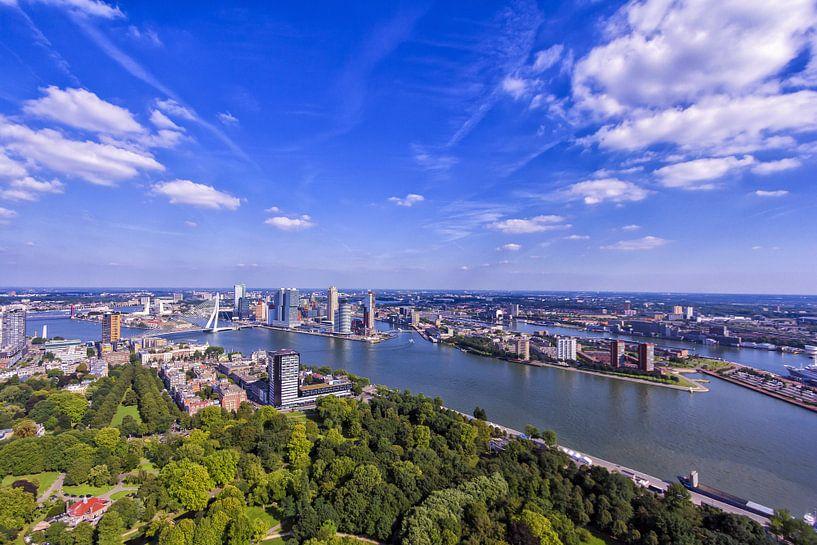 Skyline Rotterdam van Marcel Moonen Visuals