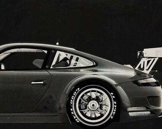 Porsche GT3 RS Cup 2008 B&W