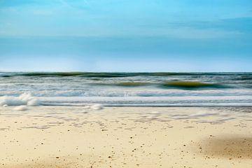 Het strand van Bergen aan Zee Noord-Holland sur Nannie van der Wal