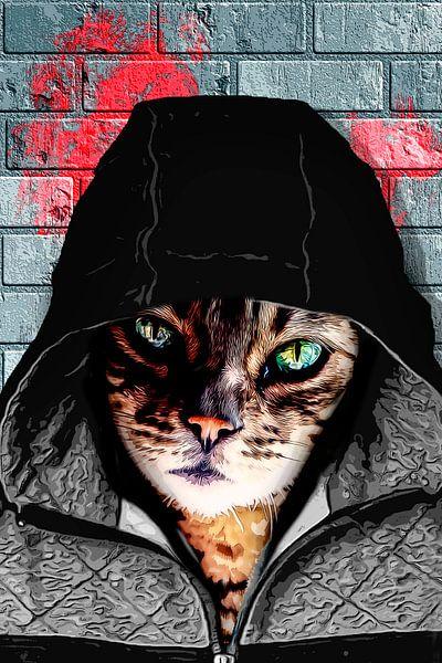 Bad ass cat von Nannie van der Wal