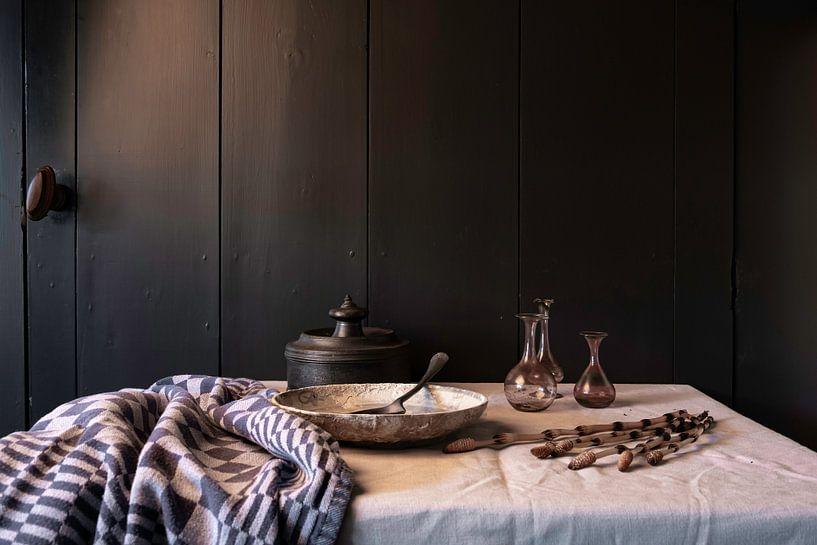 Altniederländisches Stillleben mit Zinn und Glas von Affect Fotografie
