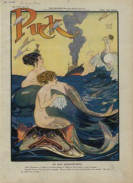 Meerjungfrauen und ein Schiff von Atelier Liesjes
