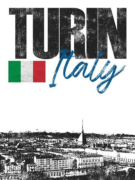 Turijn Italië van Printed Artings