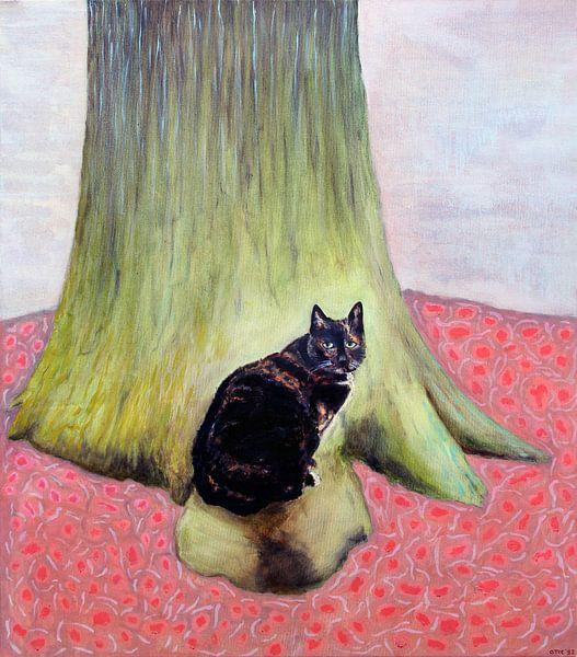 Sarah am Baum 70x80 von Marc Otte