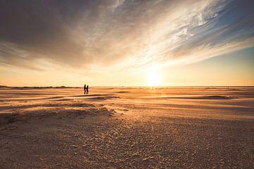 Sonnenuntergang am Strand von Zeeland