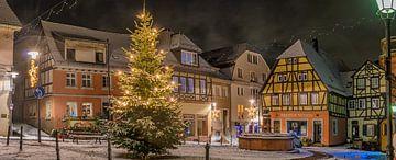 Weihnachtlicher Marktplatz von Jens Hertel