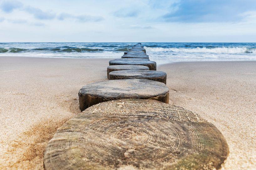 Buhnen am Strand der Ostsee von Gunter Kirsch