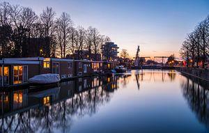 Zonsondergang bij de Munt in Utrecht