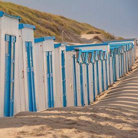 Strandhuisjes Texel van Margreet Frowijn