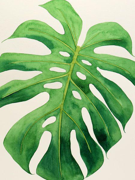 Philodendron monstera blad nr 1 van Natalie Bruns