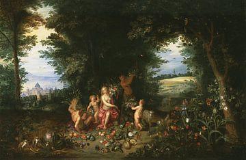 Landschaft mit Ceres (Allegorie der Erde), Jan Brueghel der Jüngere, Hendrik van Balen