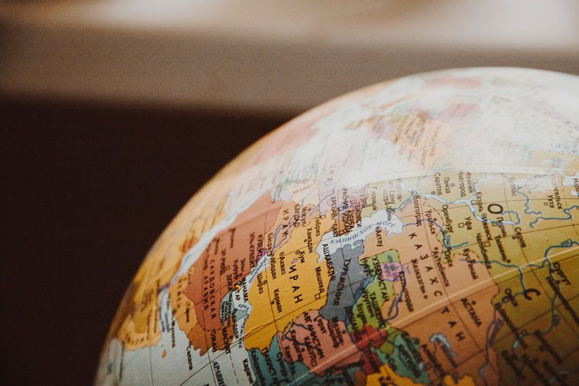Pays Close-up Globe sur World Maps