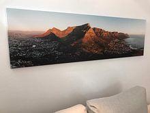 Klantfoto: Tafelberg Panorama van Mark Wijsman, op canvas