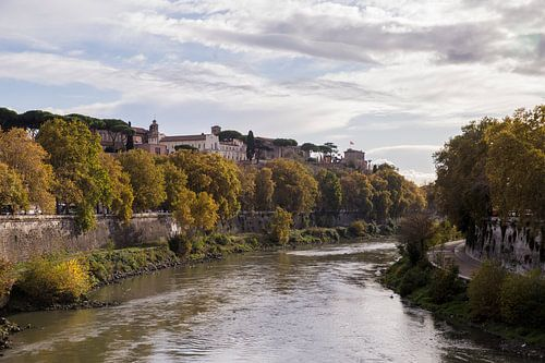 Uitzicht over de Tiber
