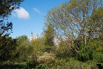 Blick auf die Johanniskirche bei Magdeburg von Heiko Kueverling