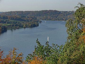 Baldeney See Panoramablick van Edgar Schermaul