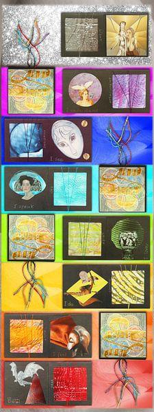 chakra meditatie poster van Hella Kuipers