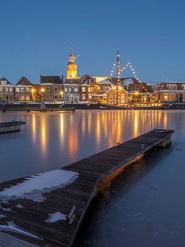 Haven van Blokzijl in de Winter van Henri van Rheenen