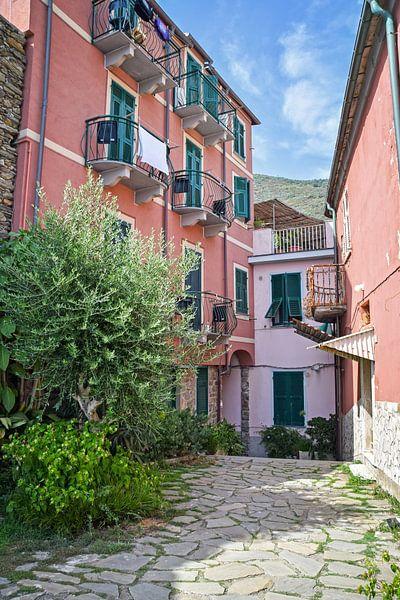 Kleurrijk straatje in Vernazza, Cinque Terre van Kramers Photo