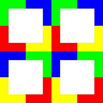Kleurpermutatie | ID=12 | V=49 | P #01 | W-RBGY van Gerhard Haberern