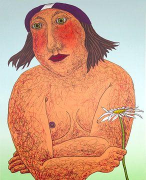 Frau mit Margerite von Helmut Böhm