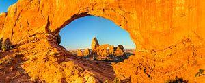 North Window bij zonsopgang, Arches National Park, Utah, USA van Markus Lange