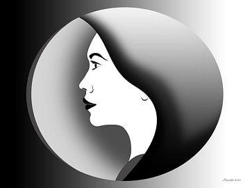 Die Frau im Inneren von Ton van Hummel (Alias HUVANTO)