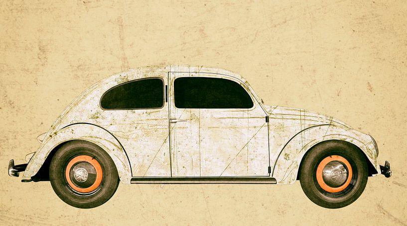 VW originele kever in antieke chamoise van aRi F. Huber