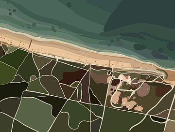 Plage de la Gautrelle, Frankrijk van Pastel Rainbow Studio