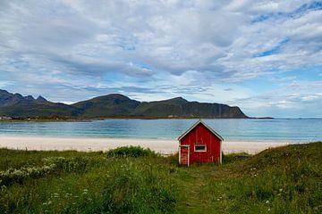 Ramsberg Strand, Lofoten, Noorwegen van Adelheid Smitt