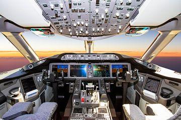 Cockpit du Boeing 787 pendant le vol - 1