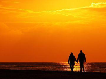 stelletje op het strand von Dirk van Egmond