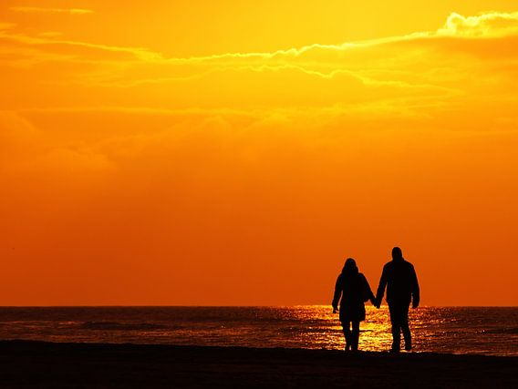 stelletje op het strand van Dirk van Egmond