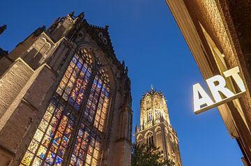 La cathédrale d'Utrecht par une belle soirée sur Juriaan Wossink