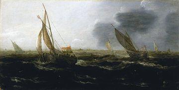 Niederländische Schiffe in einer steifen Brise, Jan Porcellis