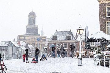winter in Leiden van John Ouds