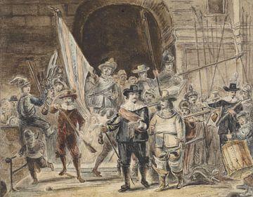 Nightwatch, Johannes Dyserinck, inspiriert von Rembrandt van Rijn