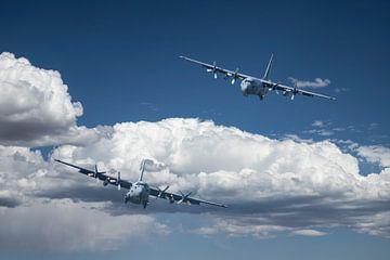 Lockheed C-130 Hercules, low approach van Gert Hilbink