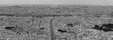 zwart wit panorama van Parijs van Bert Bouwmeester