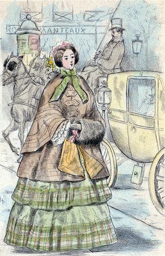 Mode 1852, Mode in het negentiende-eeuwse Parijs, Henri Boutet, (1851 1919) van
