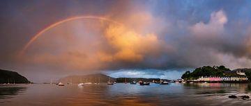 Portree Bay panorama von Wojciech Kruczynski